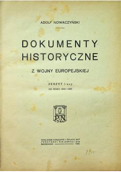 Dokumenty historyczne z wojny europejskiej Tom I 1922 r.