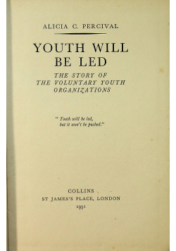 Youth will be Led