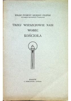 Trzej wieszczowie nasi wobec kościoła 1885 r.