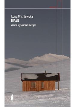 Białe zimna wyspa Spitsbergen