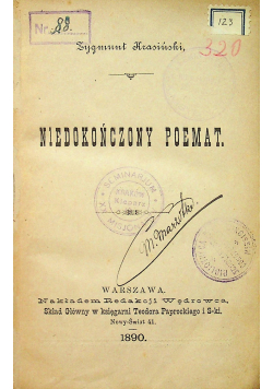 Niedokończony poemat 1890r