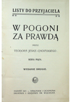 W pogoni za prawdą 1917 r.