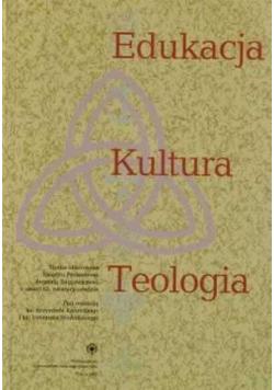 Edukacja kultura teologia