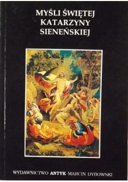 Myśli Świętej Katarzyny Sieneńskiej reprint z 1936 r.