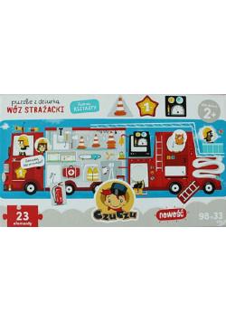 Puzzle z dziurką Wóz strażacki
