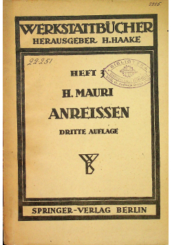 Das AnreiSen in Maschinenbau Werkstatten 1943 r.