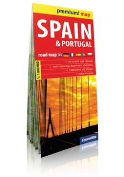 Premium! map Spain and Portugal Road Map