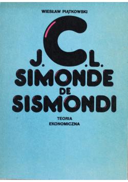 JCL  Simonde de Sismondi Teoria ekonomiczna