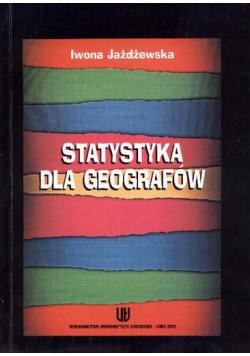 Statystyka dla geografów