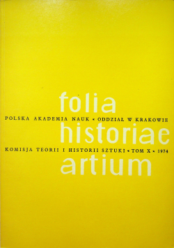 Folia historiae artium X