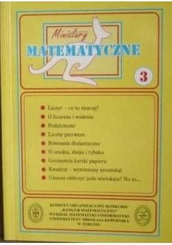 Miniatury matematyczne 3