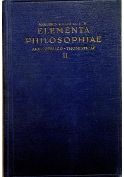 Elementa Philosophiae II 1946 r