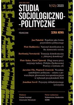 Studia Socjologiczno-Polityczne... nr 1(12)/2020