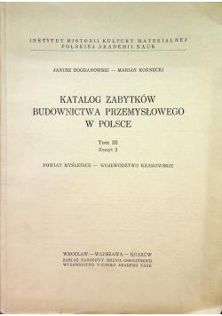 Katalog Zabytków Budownictwa Przemysłowego w Polsce Tom III zeszyt 2