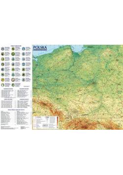 Polska Mapa ogólnogeograficzna i administracyjno-samochodowa; mapa ścienna 1:1 400 000