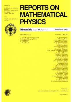 Reports on Mathematical Physics 86/3 Pergamon