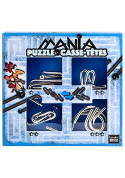 Łamigłówki metalowe 4 szt Puzzle mania nieb. G3
