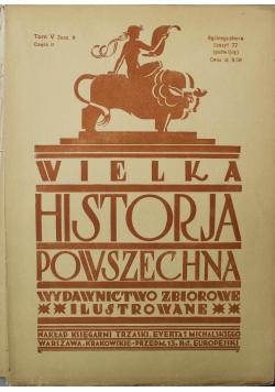 Wielka Historia Powszechna Tom V zeszyt 9 1934 r
