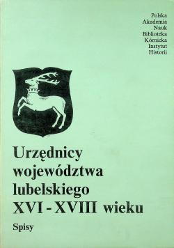 Urzędnicy województwa lubelskiego XVI - XVIII wieku