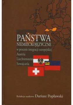 Państwa niemieckojęzyczne w procesie integracji europejskiej plus autograf autora