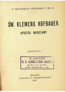 Św Klemens Hofbauer 1927 r