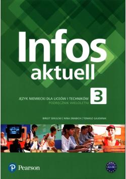Infos aktuell 3 Język niemiecki Podręcznik wieloletni + kod dostępu (podręcznik)