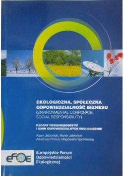 Ekologiczna, społeczna odpowiedzialność biznesu