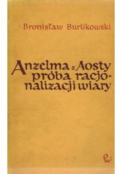 Anzelma z Aosty próba racjonalizacji wiary