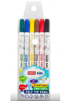 Pisaki spieralne zapachowe dwustronne 6 kolorów