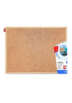 Tablica korkowa w ramie drewnianej 60x50 MEMOBE