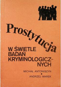 Prostytucja w świetle badań kryminologicznych