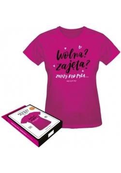 Koszulka Dla Niej-Wolna Zajęta L