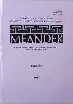 Meander rok LXXII