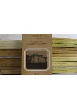 Materiały do dziejów rezydencji 20 tomy