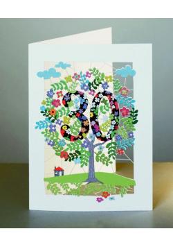 Karnet PM130 wycinany + koperta Urodziny 30