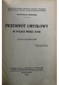 Przewrót umysłowy w Polsce wieku XVIII 1923 r.