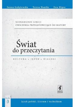 J.Polski LO Świat do przeczytania 3 Scenariusze