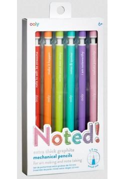 Ołówki Mechaniczne pastelowe oprawki zestaw 6szt