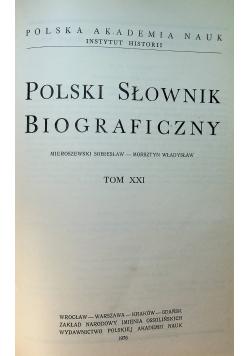 Polski Słownik Biograficzny Tom XXI