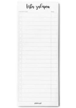Magnetyczna lista zakupów z odrywanymi kartkami