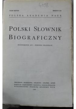Polski słownik biograficzny tom XXVI/4 zeszyt 111