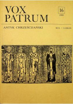 Vox Patrum nr 16 Antyk Chrześcijański