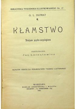 Kłamstwo studyum psycho - socyologiczne 1905 r.