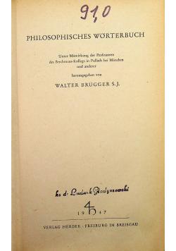 Philosophisches worterbuch 1947 r.