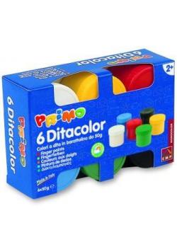 Farby do malowania palcami 6 kolorów x 50ml MILAN