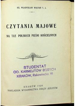 Czytania majowe 1926r.