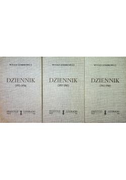 Gombrowicz Dziennik 3 tomy