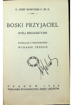 Boski Przyjaciel 1928 r.