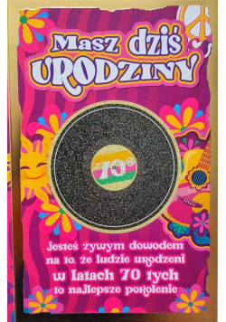 Karnet Urodziny lata 70. 2K - 041