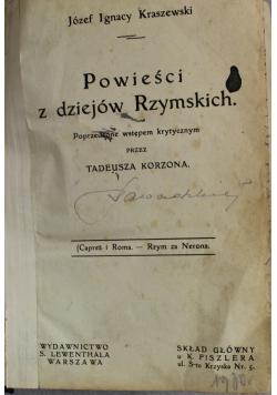 Powieści z dziejów Rzymskich około 1887 r.